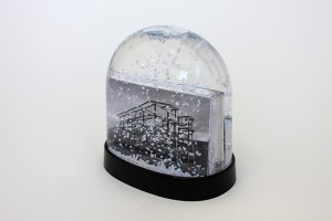 "The Green Boat (photographs and snow globe) 2014, 3½"" x 4"" x 2"""
