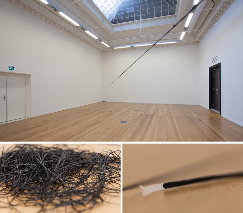 Drawn Line /  2012 / handcut acrylic on vellum / Installation size variable, line measures 656 feet by 1/8th of an inch