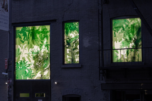 Planted, Naomi Reis windows installation at Mixed Greens