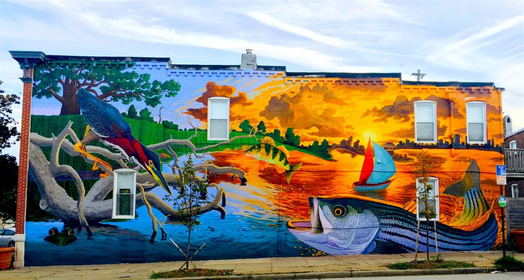 Q a with shawn james of mural masters inc baltimore arts for Baltimore mural program