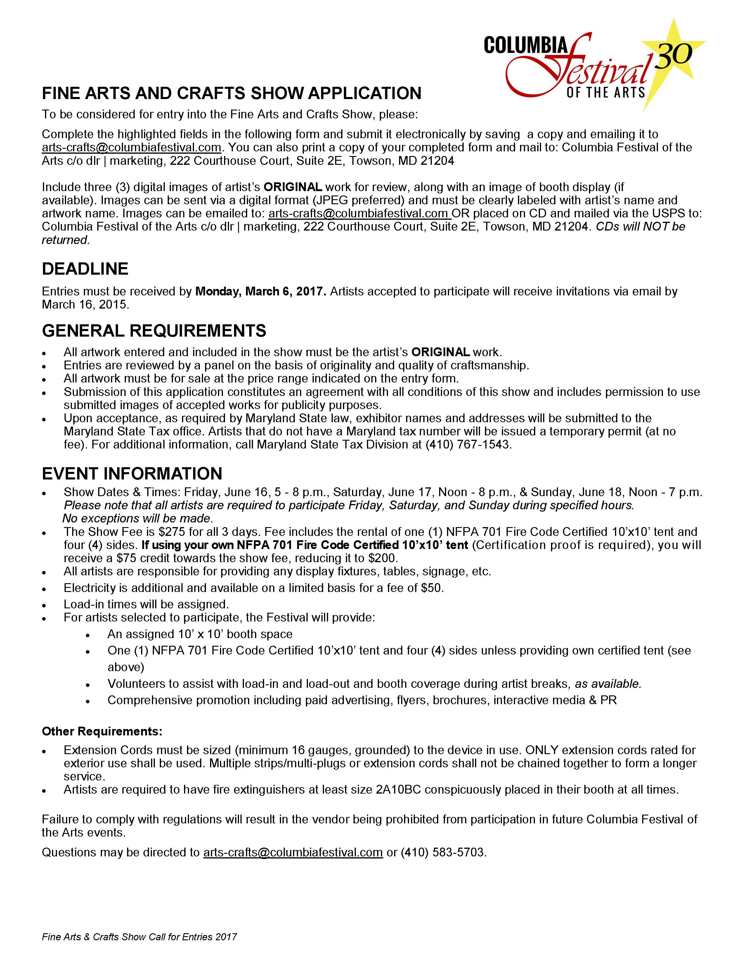CFA_Call for Entries_2017_Page_2 – BALTIMORE ARTS